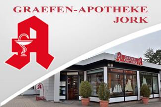 ALTSTADT APOTHEKE, Breite Straße 14, 21614 Buxtehude, altstadt-apotheke@ewe.net, Tel. 04161-9946307, Fax 04161-9946309 // GRÄFEN APOTHEKE, Westerjork 31, 21635 Jork, graefen.apotheke@ewetel.net, Tel. 04162-349. Fax 04162-909086